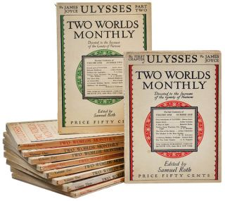 ULYSSES [IN] TWO WORLDS MONTHLY - COMPLETE SERIAL. James Joyce