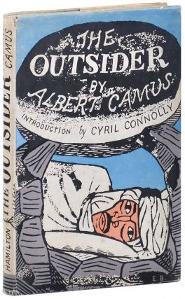 THE OUTSIDER (THE STRANGER). Albert Camus, Cyril Connolly, Stuart Gilbert, novel, introduction