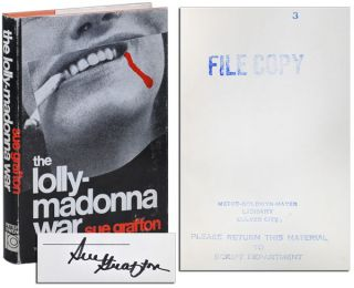 THE LOLLY-MADONNA WAR - M.G.M. FILE COPY, SIGNED. Sue Grafton