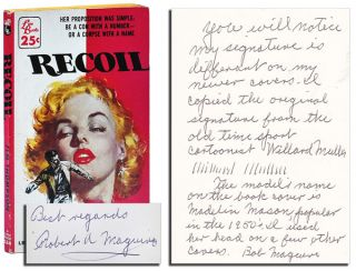 RECOIL - INSCRIBED BY COVER ARTIST ROBERT A. MAGUIRE. Jim Thompson
