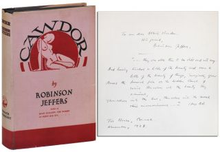 CAWDOR AND OTHER POEMS - INSCRIBED TO ALBERT BENDER. Robinson Jeffers