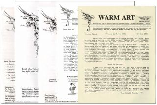 WARM ART: NEWSLETTER OF THE TATTOO SPECIAL INTEREST GROUP OF AMERICAN MENSA, LIMITED - NOS.1-5,...