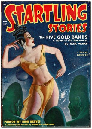 STARTLING STORIES - VOL.22, NO.2 (NOVEMBER, 1950). Earle Bergey, cover art