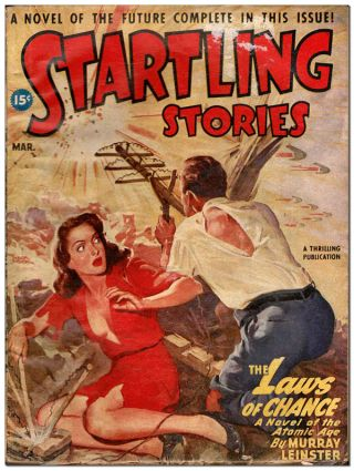 STARTLING STORIES - VOL.15, NO.1 (MARCH, 1947). Rudolph Belarski, cover art