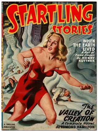 STARTLING STORIES - VOL.17, NO.13 (JULY, 1948). Earle Bergey, cover art