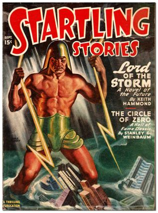 STARTLING STORIES - VOL.16, NO.1 (SEPTEMBER, 1947). Earle Bergey, cover art