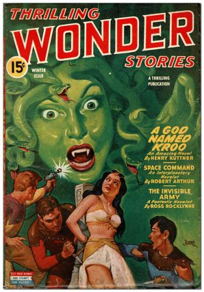 THRILLING WONDER STORIES - VOL.XXV, NO.2 (WINTER, 1944). Rudolph Belarski, cover art