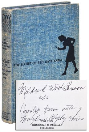 THE SECRET OF RED GATE FARM - INSCRIBED. Carolyn Keene, pseud. of Mildred Wirt Benson