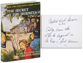 THE SECRET AT THE HERMITAGE - INSCRIBED. Carolyn Keene, pseud. of Mildred Wirt Benson