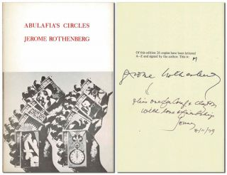 ABULAFIA'S CIRCLES - DELUXE ISSUE, INSCRIBED TO CLAYTON ESHLEMAN. Jerome Rothenberg, Wallace...