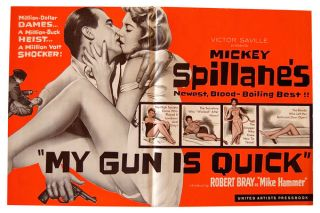 MY GUN IS QUICK - ORIGINAL FILM PRESSBOOK. Mickey Spillane, Phil Victor, George White, Richard...
