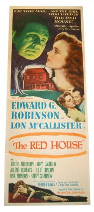 THE RED HOUSE - ORIGINAL INSERT FILM POSTER. George Agnew Chamberlain, Delmer Daves, novel, director