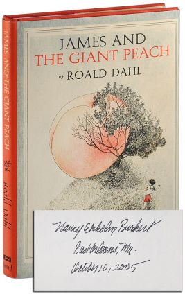 JAMES AND THE GIANT PEACH: A CHILDREN'S STORY - SIGNED BY THE ILLUSTRATOR. Roald Dahl, Nancy...