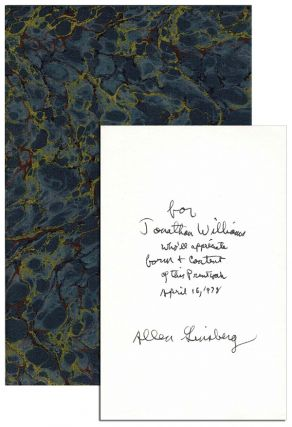 CARELESS LOVE - INSCRIBED TO JONATHAN WILLIAMS. Allen Ginsberg
