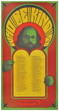 WHO BE KIND TO. Allen Ginsberg, Wes Wilson, poem, design