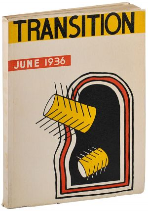 TRANSITION: A QUARTERLY REVIEW - NO.24 (JUNE, 1936). Eugene Jolas, Fernand Léger, cover
