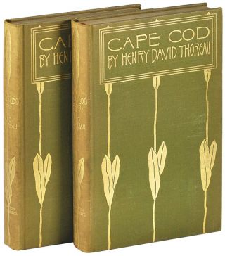CAPE COD. Henry David Thoreau, Amelia M. Watson, text, illustrations