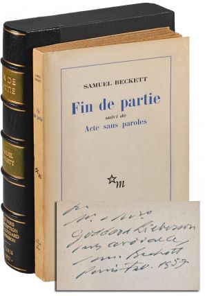FIN DE PARTIE, SUIVI DE ACTE SANS PAROLES [ENDGAME, FOLLOWED BY ACTS WITHOUT WORDS] - INSCRIBED...