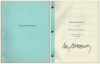 ICARUS MONTGOLFIER WRIGHT: A SCREENPLAY - SIGNED. Ray Bradbury, George Johnson