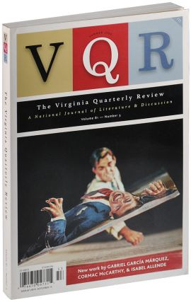 THE VIRGINIA QUARTERLY REVIEW - VOL.81, NO.3 (SUMMER, 2005). Cormac McCarthy, Gabriel Garcia...
