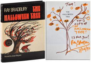 THE HALLOWEEN TREE - INSCRIBED WITH AN ORIGINAL DRAWING. Ray Bradbury, Joseph Mugnaini, novel,...