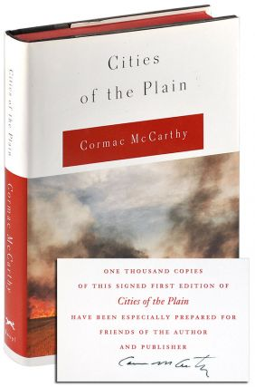 CITIES OF THE PLAIN - LIMITED EDITION, SIGNED. Cormac McCarthy