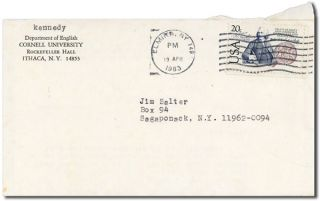 TYPED LETTER, SIGNED, TO JAMES SALTER (APRIL 18, 1983)