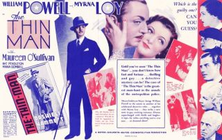 "ORIGINAL HERALD FOR THE 1934 FILM ""THE THIN MAN"""