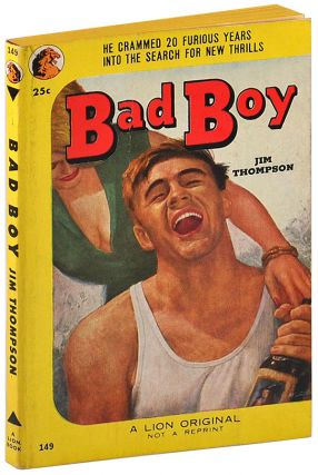 BAD BOY. Jim Thompson, Mort Kunstler, novel, cover art