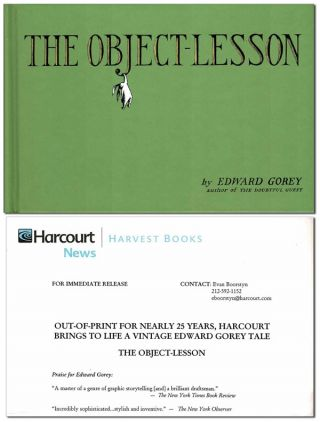 THE OBJECT-LESSON - REVIEW COPY. Edward Gorey
