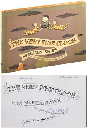 THE VERY FINE CLOCK - INSCRIBED. Muriel Spark, Edward Gorey, story, illustrations