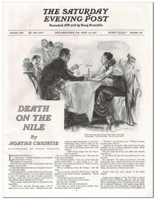 DEATH ON THE NILE - COMPLETE EIGHT-PART SERIAL IN THE SATURDAY EVENING POST (MAY 15 - JULY 3, 1937)