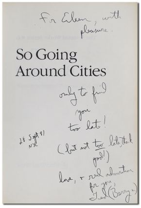SO GOING AROUND CITIES: NEW & SELECTED POEMS, 1958-1979 - INSCRIBED TO EILEEN MYLES