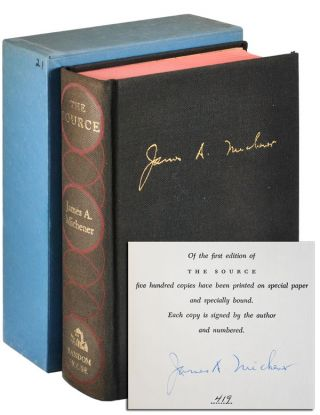 THE SOURCE: A NOVEL - LIMITED EDITION, SIGNED. James A. Michener