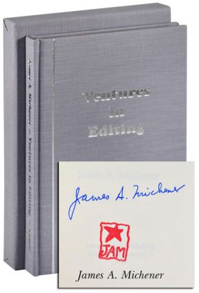 VENTURES IN EDITING - LIMITED EDITION, SIGNED. James A. Michener