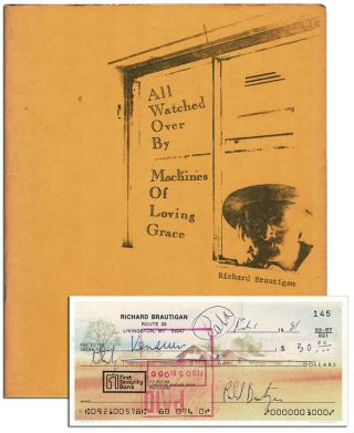 ALL WATCHED OVER BY MACHINES OF LOVING GRACE - WITH A SIGNED CHECK LAID IN