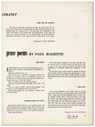 VIEW - SERIES VII, NO.2 (DECEMBER, 1946) - SIGNED BY PAUL BOWLES