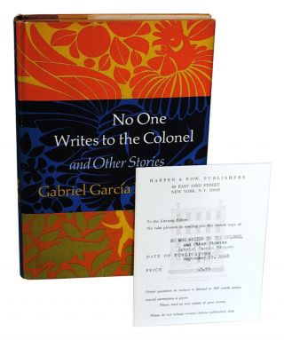 NO ONE WRITES TO THE COLONEL AND OTHER STORIES - REVIEW COPY. Gabriel García Márquez