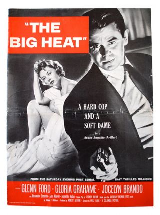 THE BIG HEAT - ORIGINAL FILM PRESSBOOK. William P. McGivern, Fritz Lang, novel, director