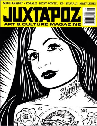JUXTAPOZ MAGAZINE - VOLUME [VOL.] 14, NUMBER [NO.] 9. Mike Giant, Matt Leines, artwork